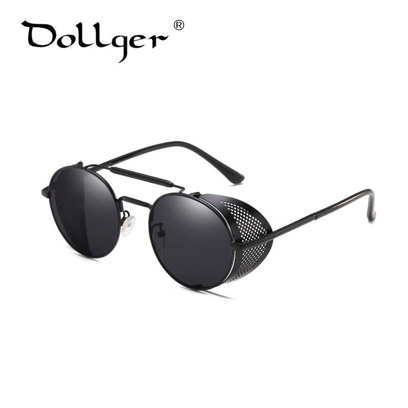 9860ec2560 Dollger Women Steampunk Sunglasses Round Retro Metal Shields Brand Designer  Steampunk Sunglasses Men Women UV400 s1579-in Sunglasses from Apparel ...
