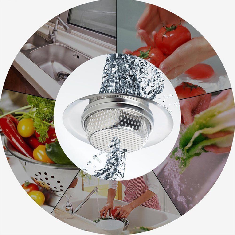 7cm/9cm/11.5 Cm Stainless Steel Bathtub Hair Catcher Stopper Shower Drain Hole Filter Trap Kitchen Metal Sink Strainer Drain