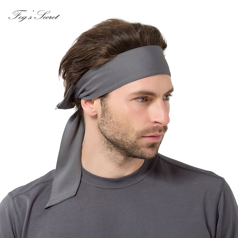 Elegant Fitness Headband Outside Sport Gym Cool Bandanas Unisex Man And Woman Antiperspirant Absorb sweat Headband Hair band