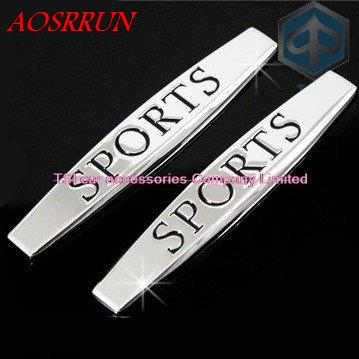 for vw Volkswagen POLO GTI GOLF 4 5 6 7 passat b5 B6 sports fender labeling labeling decoration metal logo side car accessories
