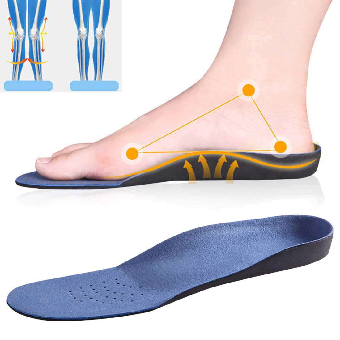 Shock Obsorbing Orthotic insoles Flat