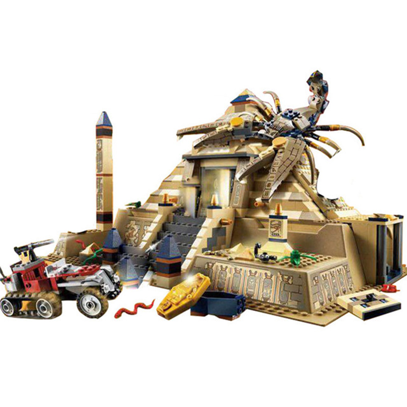 822Pcs Lepin 31001 Egypt Pharaoh Series The Scorpion Pyramid Children Educational Building Blocks Bricks Toys For Gift With 7327 lepin 21012 builder the beatles yellow submarine with 21306 building blocks bricks policeman toys children educational gift toys