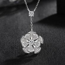 Модное круглое ожерелье в форме веера для женщин геометрическое