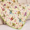 Recém-nascido primavera colcha de cama cobertor do bebê cobertor de lã de flanela de algodão coruja infantil caricatura cobertor capa