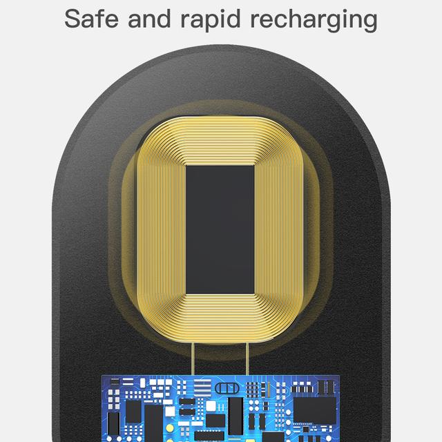 Receptor de carga inalámbrico para teléfonos móviles