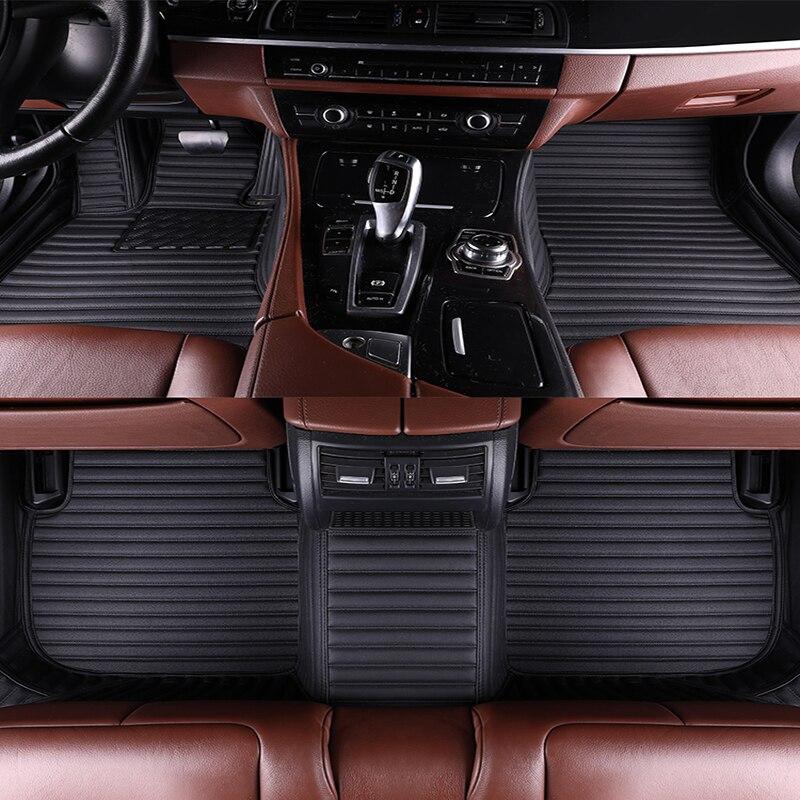 WLMWL tapis de sol de voiture pour Honda tous les modèles CRV XRV Odyssey city crosstour civic crider vezel fit accord housses de tapis de voiture