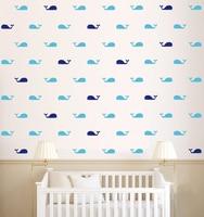 60ピース/セットクジラ壁デカール魚クジラウォールステッカーdiyベビールームホーム装飾壁アートウォールステッカー子供のため部