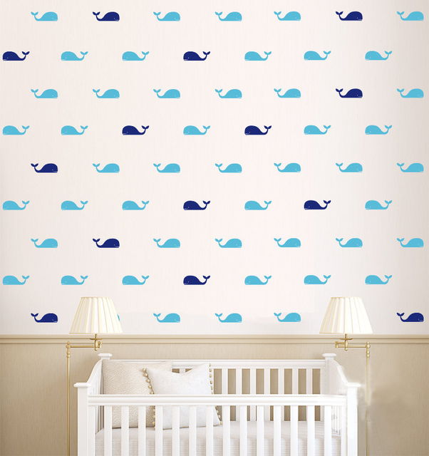 Whale Wall Art aliexpress : buy 60pcs/set whale wall decal fish whales wall