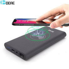 DCAE Qi Wireless Charger 10000Amh Portable USB Power Bank Wireless Charging Pad for iPhone X 8 Plus Samsung Note 8 S8 PowerBank