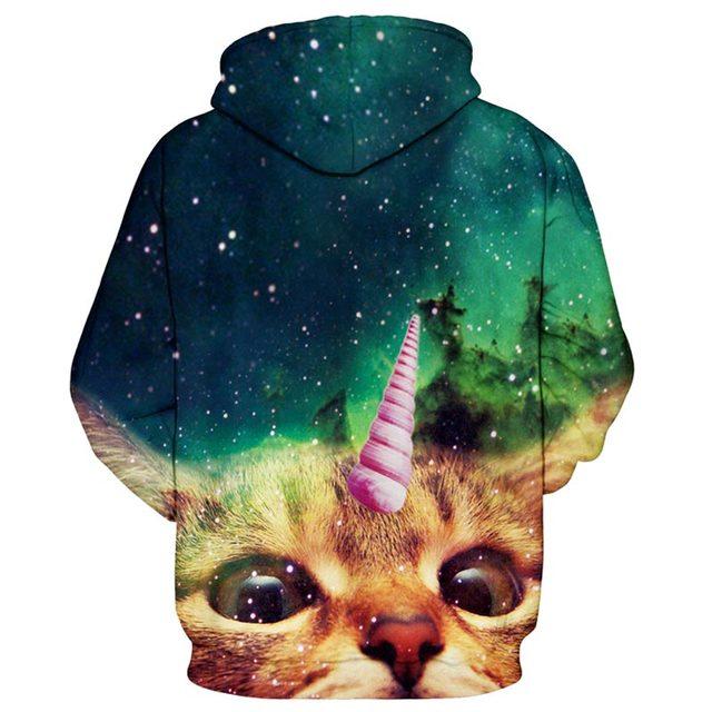 3D cat hoodie unicorn