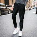 Мужская повседневная брюки 2017 весной и осенью мужские случайные брюки длинные повседневные брюки для увеличения небольшой ярдов М-5XL