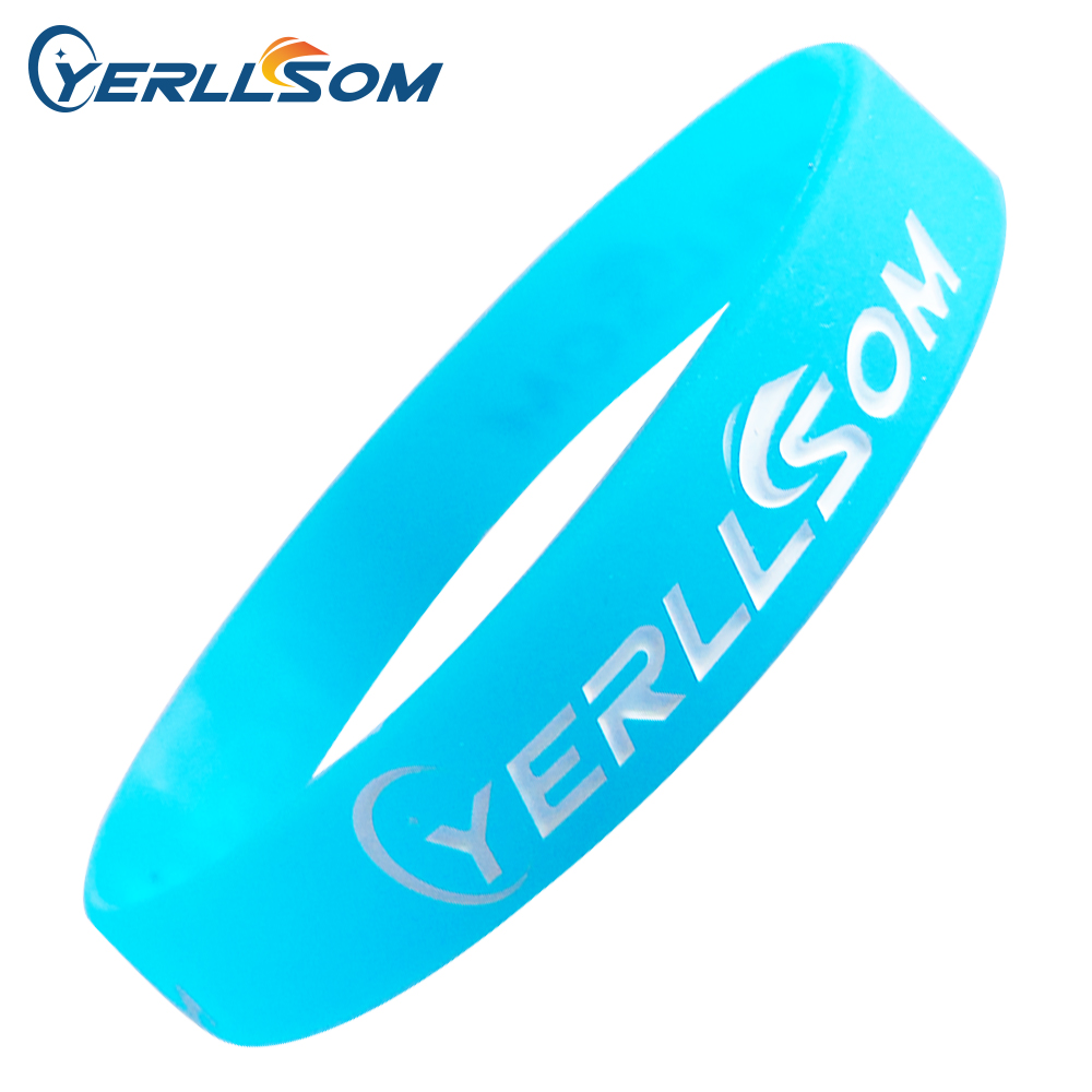 200PCS lot Free Shipping Customized Engraved and ink filled Rubber Silicone Bangles For Events Y060103