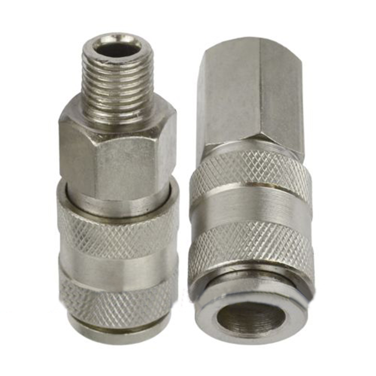 2pcs Euro Air Line Hose Compressor Connector Female/Male 1/4 BSP Thread Female Quick Release Fittings Mayitr For Home Tools 6pcs mayitr air line compressor connector euro fittings quick release coupling set with 1 4 bsp thread