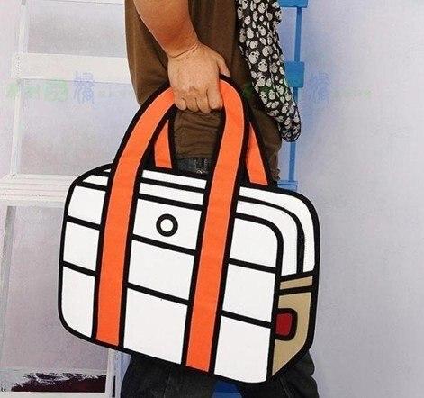 East Knitting FG 004 FASHION xopen woman man Comic cartoon 3D vivid Shoulder  Messenger Bag HandBag Hot Sale Free Shipping-in Crossbody Bags from Luggage  ...