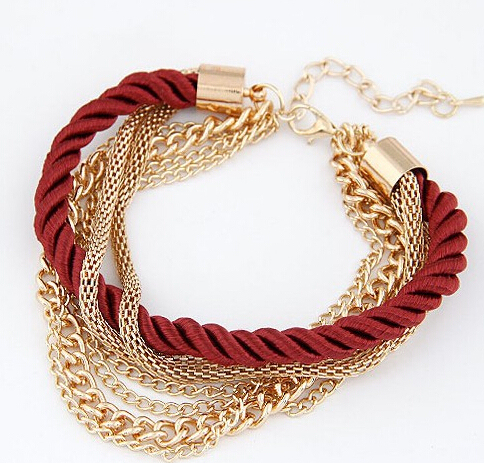 MINHIN Fashionable Rope Chain Decoration Bracelet For Girl Six Color Hot Selling Bracelet For Summer Party Special Accessory 1