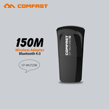2pcs Comfast Mini 150Mbps USB WiFi Adapter Bluetooth 4.0 Dongle Signal Receiver Support Window2000/XP wifi receiver/transmitter