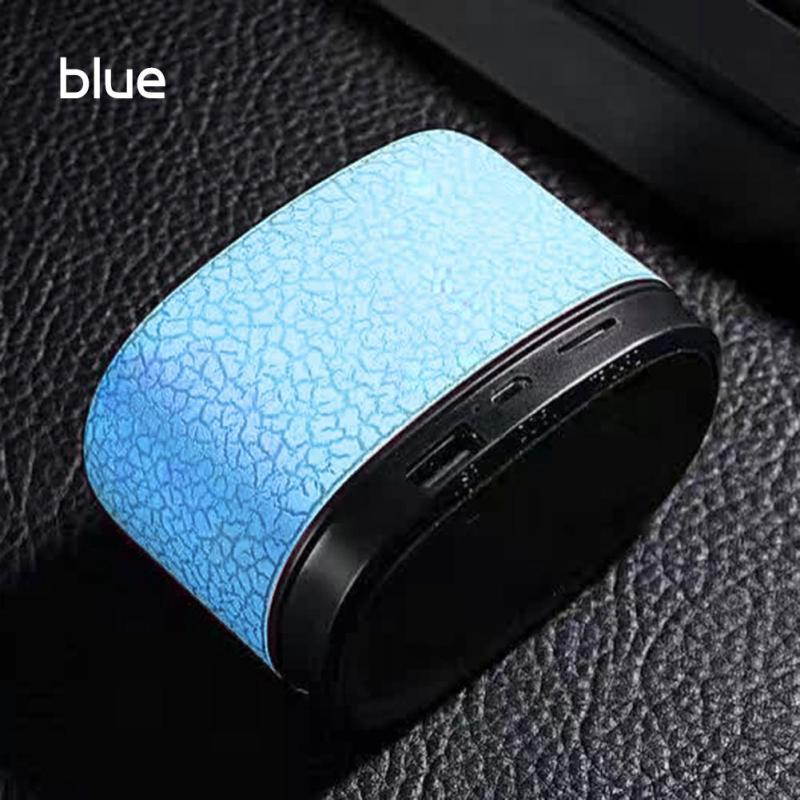 Mini Desktop Led Bluetooth Speakers Wireless Music Bass Speaker Support TF Card FM Radio Dust-proof Subwoofer LED Loudspeaker