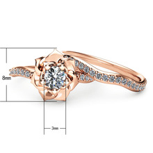 2 PCs/Set Love Rings For Women Rose Flower Romantic Couple Lovers Gift Gold Ring Engagement Wedding Rings Valentine's Day Gift fashion valentine s day couple wedding rings for women lovers offers lovers ring set engagement gift engrave bible cross ring