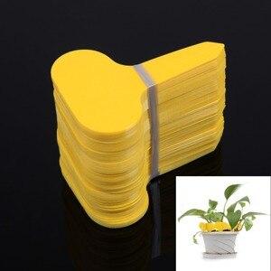 100Pcs T-type Plastic Plants Labels Nursery Flower Pot Thick Tags Marker Goods for Plants Garden Decoration Tools