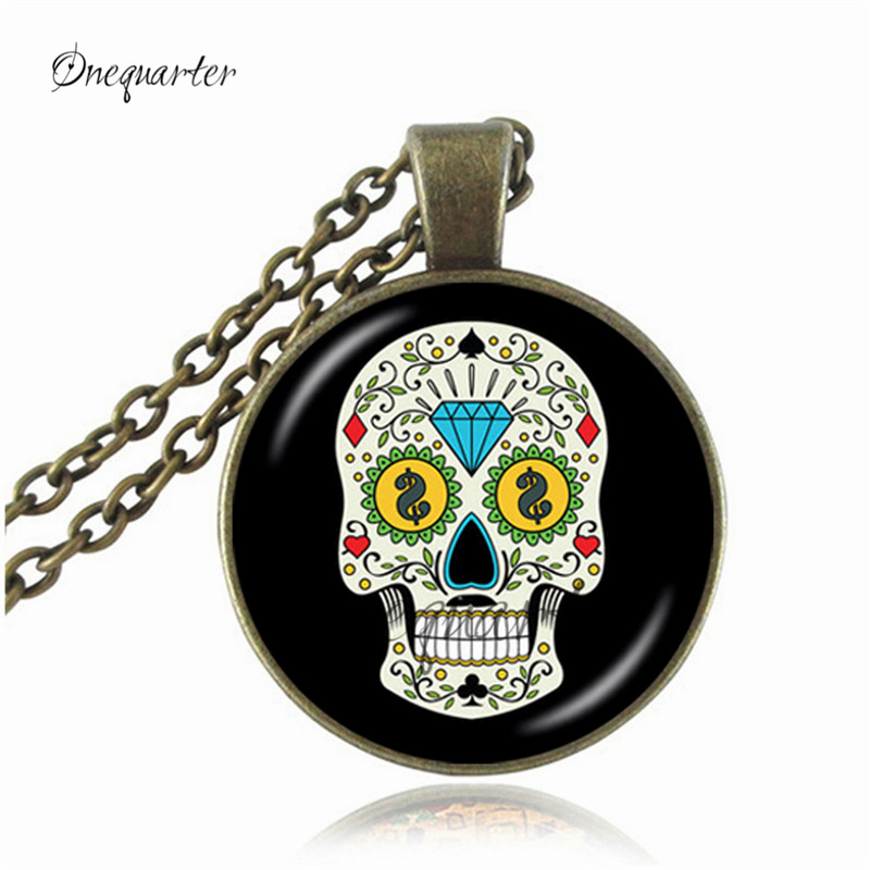 Aliexpress Buy New 2018 Fashion Skull Necklace Distilled