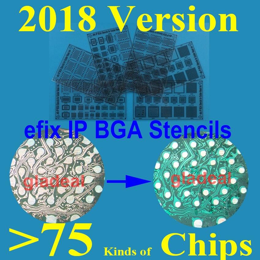 efix 2018 IP BGA Soldering Mask Ink Stencils Tool KitS for Fix Repair iPhone iPad NAND A11 A10 A9 A8 IC Chip Reballing Board