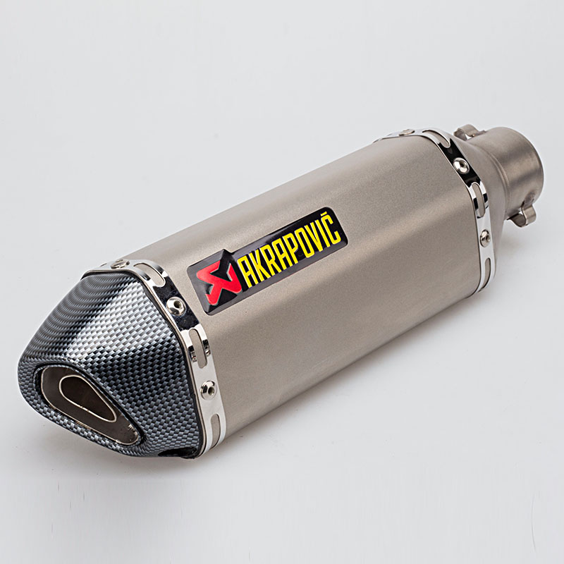4 Color 51 MM Universal Modificado Escape Silenciador Tubo de Escape Akrapovic Motocicleta Scooter Dirt Bike Moto R6 YZF600 YZF1000 R1 CBR