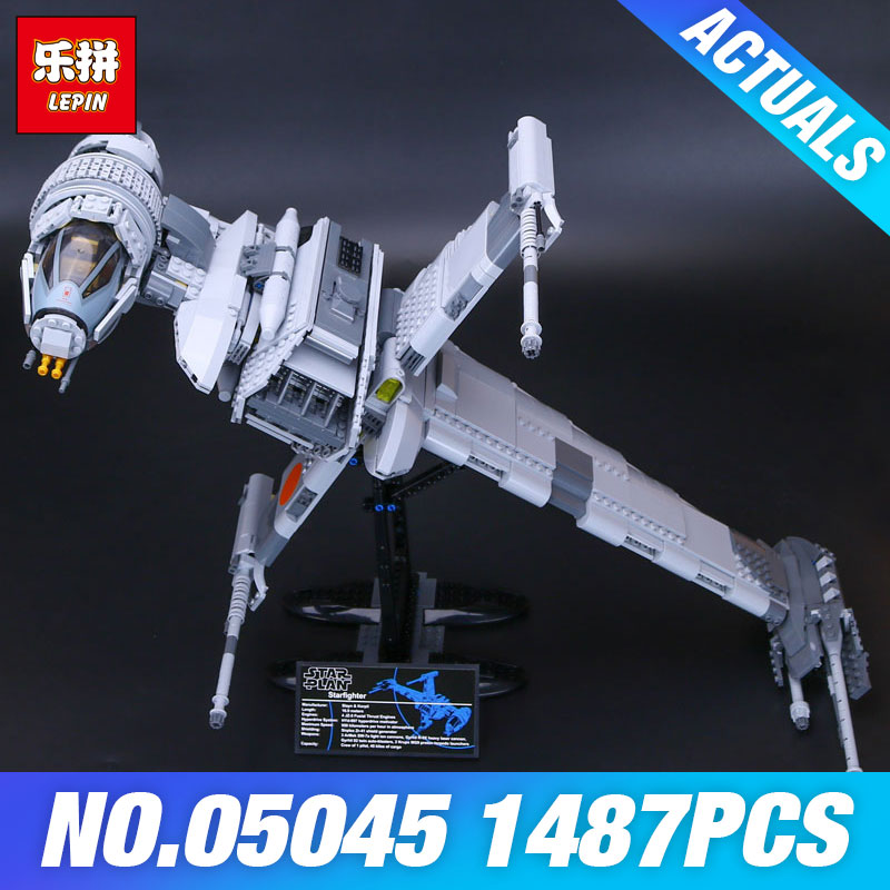 Lepin 05045 Star Plan 1487Pcs 10227 B-wing fighter Wars Set Building Blocks Bricks DIY Educational Children Toys Christmas Gifts new 1685pcs lepin 05036 1685pcs star series tie building fighter educational blocks bricks toys compatible with 75095 wars