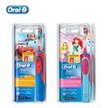 Braun oral b d12513k niños seguridad recarga cepillo de dientes eléctrico cepillo de dientes a prueba de agua para niños de 3 + niños o niñas caliente