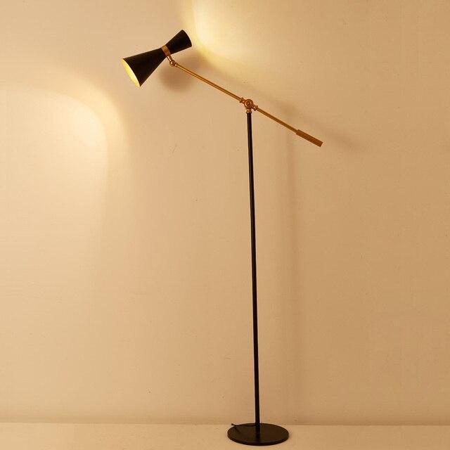 Desainer Moderen Meja Floor Lampu 5 W Led Bohlam Ruang Tamu Belajar Berdiri Putih