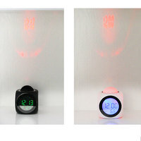 2017 New LED Projection Voice Talking Alarm Clock Backlight Electronic Digital Projector Watch Desk Temperature Voice Display 1