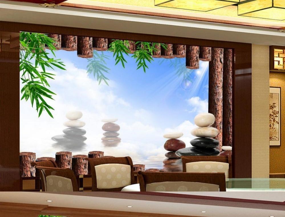 Aliexpress  Buy 3d mural designs Bamboo stone Living room TV - 3d wallpaper for living room