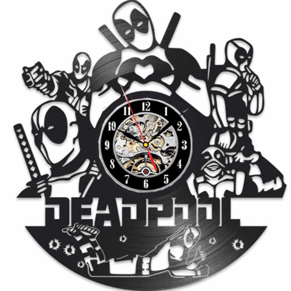 Deadpool Marvel Projeto Vinil Relógio de Parede-handmade do presente para qualquer ocasião