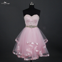 LZ168 China Avondjurken Delicate Roze Korte Prom Dress