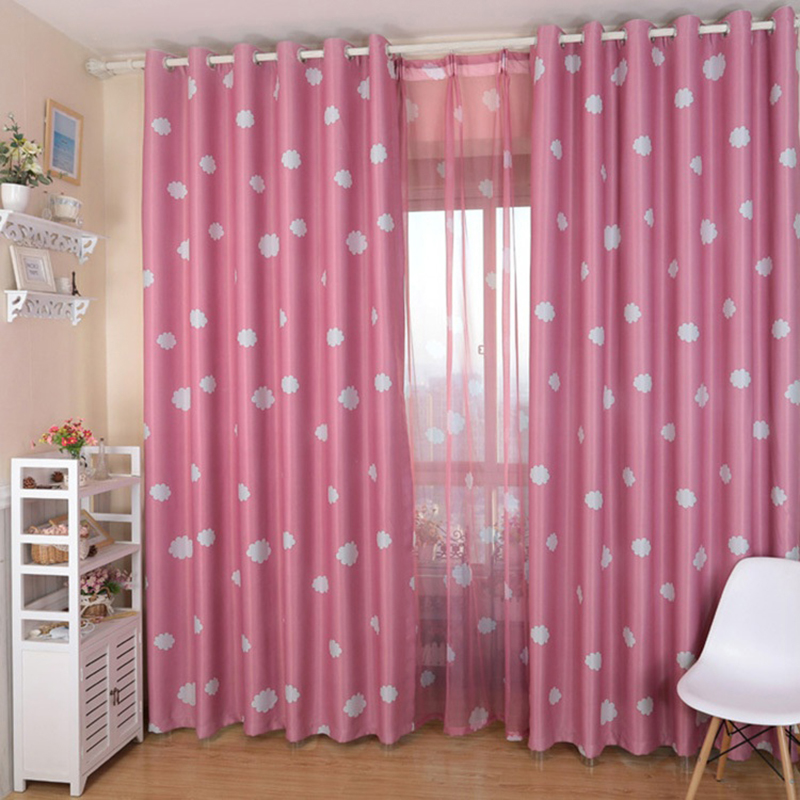 Pink Blue Curtains For The Living Room Curtain Fabric + Voile Blackout  Windows Curtains 6412 In Curtains From Home U0026 Garden On Aliexpress.com |  Alibaba ...