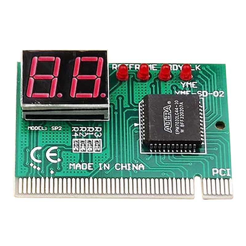 2-Digit PC Computer Mother Board Debug Post Card Analyzer PCI Motherboard Tester Diagnostics Display For Desktop PC EM88