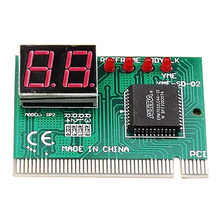 2 Digit PCคอมพิวเตอร์Mother Board Debug Post Cardเครื่องวิเคราะห์PCI Motherboard Tester Diagnosticsสำหรับเดสก์ท็อปพีซี