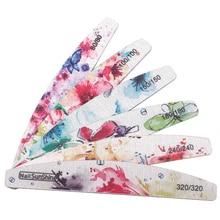 Ensemble de limes à ongles imprimées fleurs, bloc tampon coloré 80/100/150/180/240/320, outil de manucure, nouveau