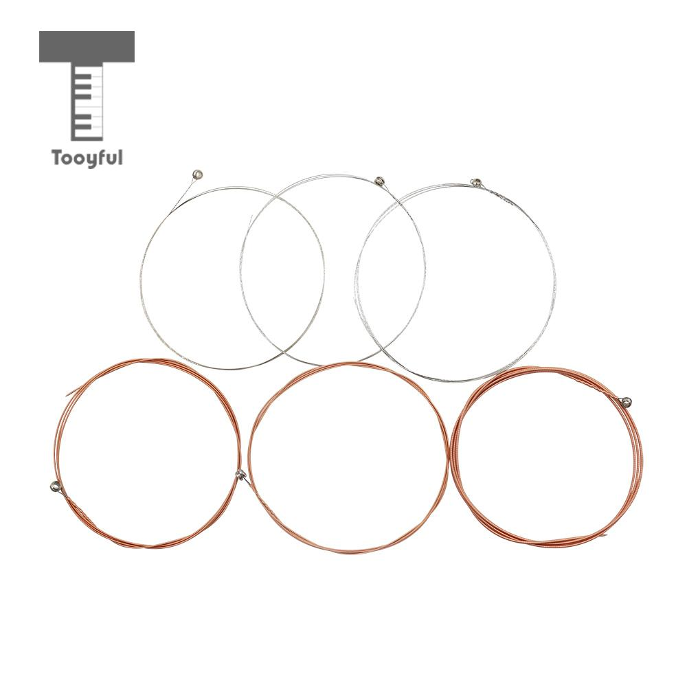 Tooyful 6 Pieces Phosphor Bronze Alloy Guitar Strings Set for Acoustic Guitar Musical Instrument Accessory Parts