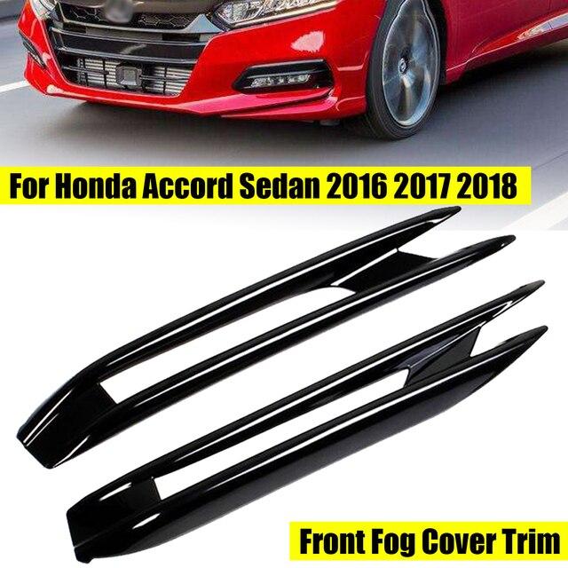 2pcs For Honda Sedan 2016 2017 2018 Chrome Front Head Fog Light Lamp Cover Trim Foglight Bezel Per Garnish Frame Molding