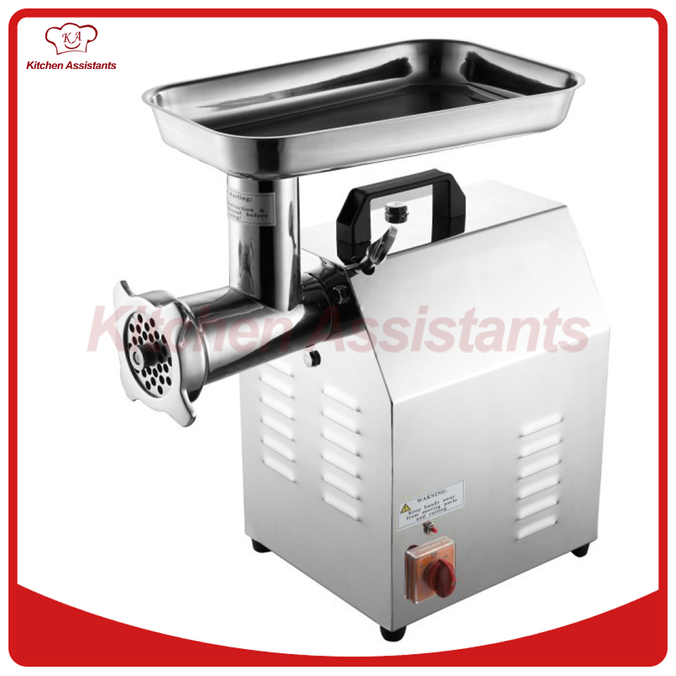TC12 Electric Commercial kitchen stainless steel meat mincer grinder machine with parts blades мясорубка 22 22 22 stainless steel meat mincer cutting blades
