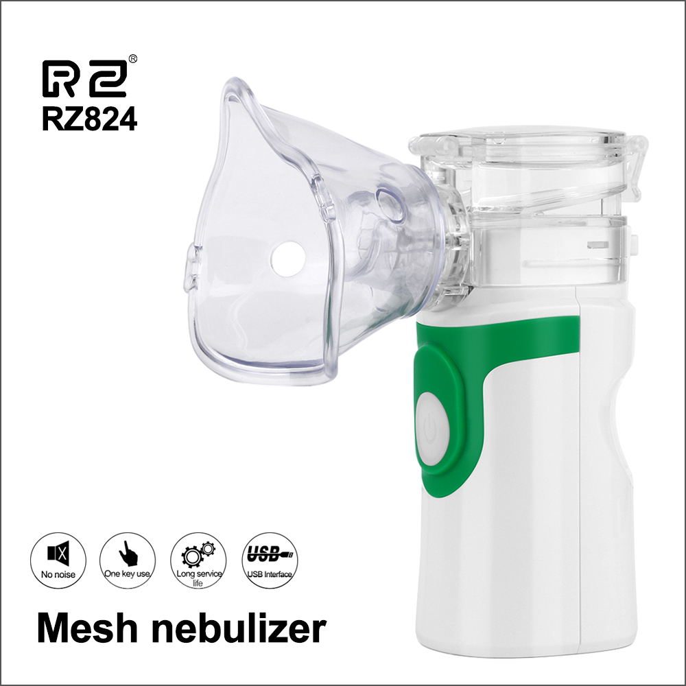 RZ Health Care Handheld Nebulizer Children Adult Asthma Inhaler Mini Nebulizador Rechargeable Automizer Ultrasonic Inalador-in Steaming Devices from Beauty & Health