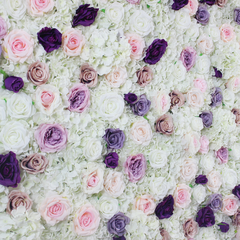SPR wedding Artificial SILK rose hydrangea flower wall panels for occasion backdrop flower arch floral arrangement