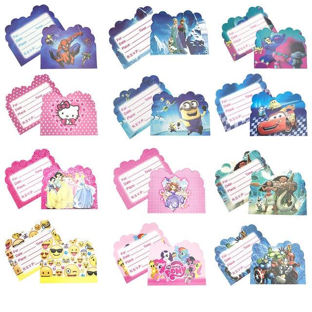 Très 10 pcs Pokemon Thème Parti Papier Carte D'invitation de Fête D  XL08