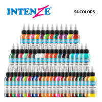 54 Pcs 1 Unzen Professionelle Premium 54 Farbe Tattoo Tinte Pigment Körper Kunst Liefert Set Kits Tattoo & Körper Kunst tattoo Liefert