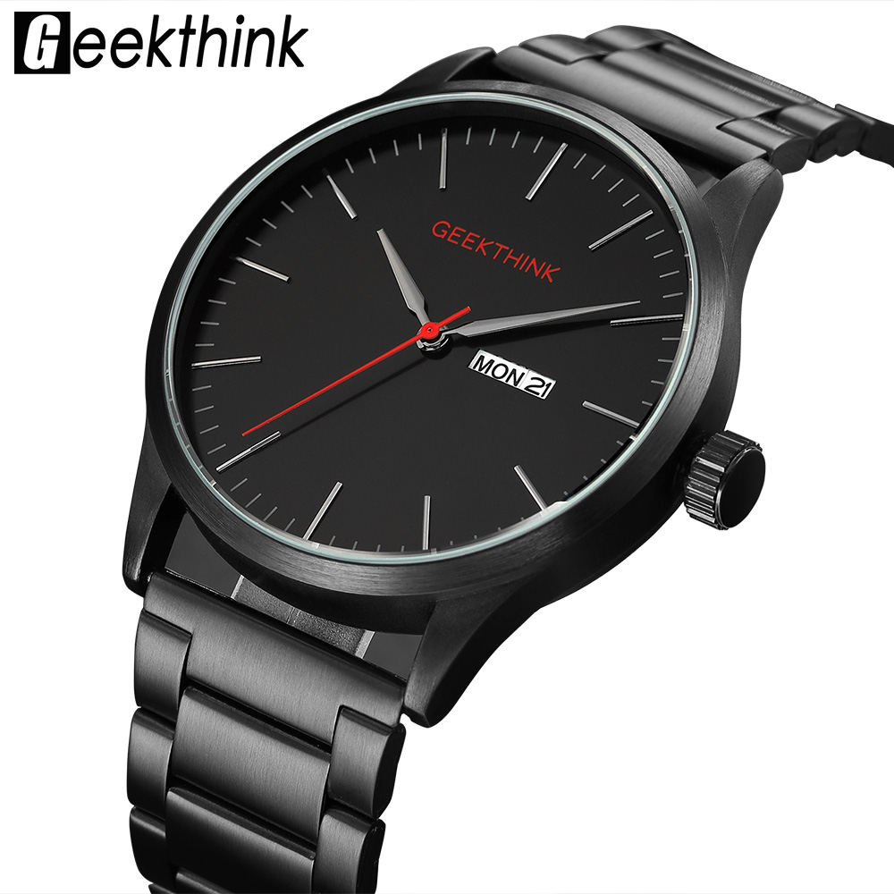 Military Black Steel Casual Japan Quartz Watches Man Fashion Business Luxury Brand Mens Clock male Date Analog Wristwatch