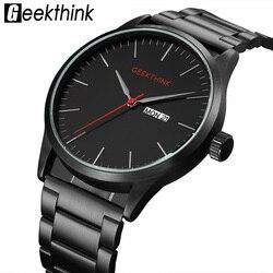 Military Black Steel Casual Japan Quartz Watches Man Fashion Business Luxury Brand Mens Clock male Date Analog Wristwatch