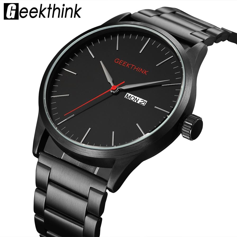 Military Schwarz Stahl Casual Japan Quarz Uhren Mann Mode-Business Luxus Marke Herren Uhr männlichen Datum Analog Armbanduhr
