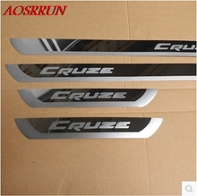 fit for Chevrolet Cruze 2009 2015 Stainless Steel Door Sill Strip Welcome Pedal Trim Auto Car