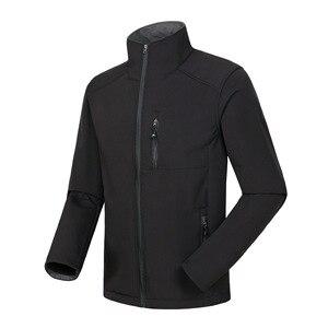 Image 5 - Własne Logo Design drukowane męskie kurtki jesienne wodoodporny płaszcz wiatroszczelny zamek Softshell Degisn topy na wierzch