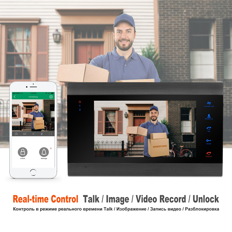 Image 2 - HomeFong Wifi Door Intercom Wireless Video Intercom with Electronic Lock CCTV Camera Home Access Control System Control by Phone-in Video Intercom from Security & Protection